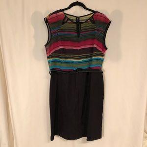 Alyx Printed Stripe Dress With Belt
